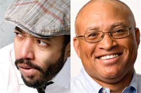 Daily Show correspondents Wyatt Cenac and Larry Wilmore headline tonight at Comix