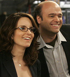 Scott Adsit and Tina Fey