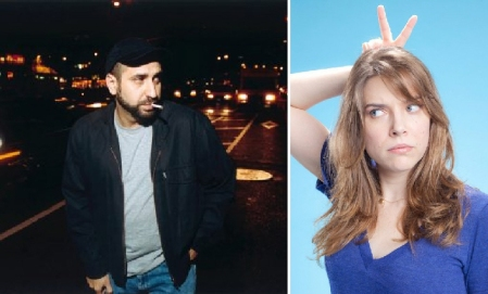 Dave Attell and Eliza Skinner