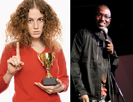 Morgan Murphy and Hannibal Buress