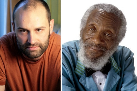 Ted Alexandro and Dick Gregory