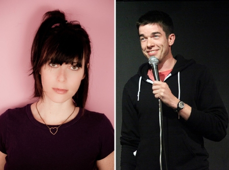 Andrea Rosen and John Mulaney