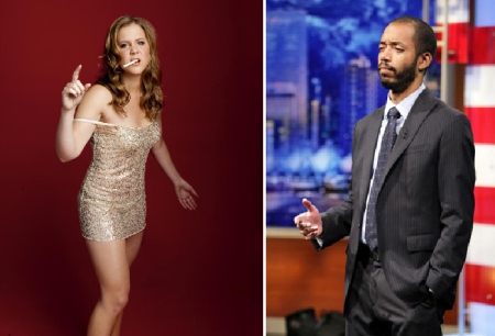 Amy Schumer and Wyatt Cenac