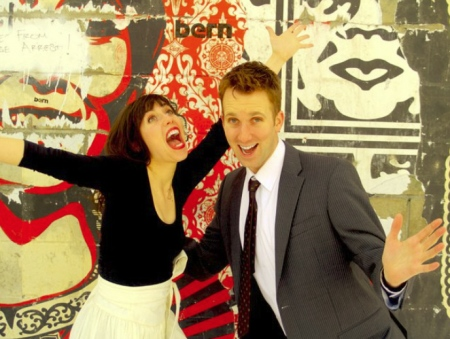 Jordan Klepper and Laura Grey