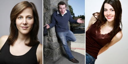 Jane Borden, James Adomian, and Carmen Lynch