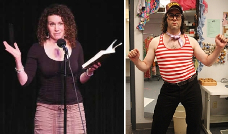 Susie Essman and Judah Friedlander