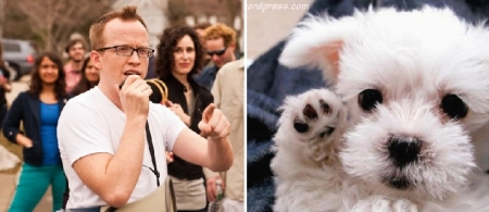Chris Gethard and Puppy