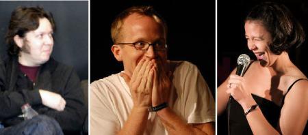 Dave Hill, Chris Gethard, and Leslie Goshko