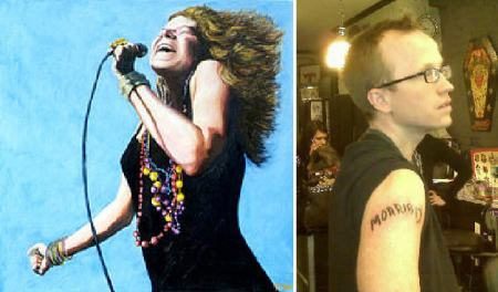 Janis Joplin and Chris Gethard