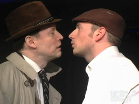 John Murray and Brandon Scott Jones in Death Wears Stilettos