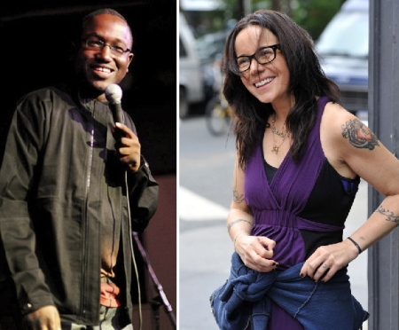 Hannibal Buress and Janeane Garofalo