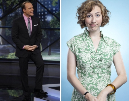 Tom Papa and Kristen Schaal