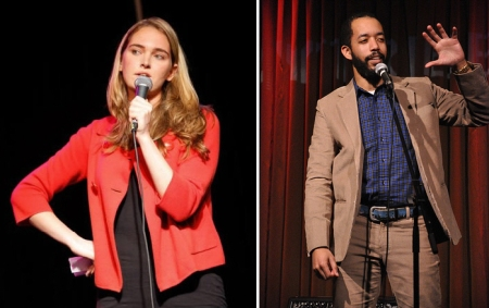 Jena Friedman and Wyatt Cenac