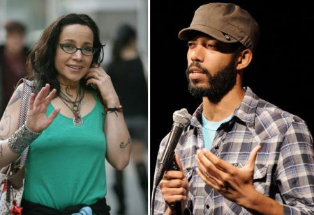 Janeane Garofalo and Wyatt Cenac