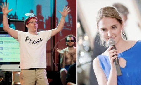 Chris Gethard and Jena Friedman