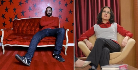 Wyatt Cenac and Janeane Garofalo