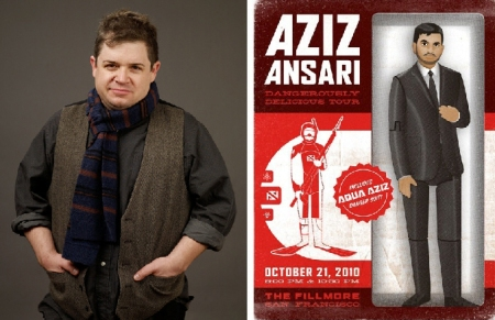 Patton Oswalt and Aziz Ansari