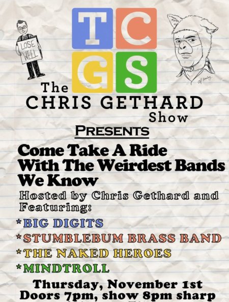 The Chris Gethard Show Presents: Come Take A Ride With The Weirdest Bands We Know