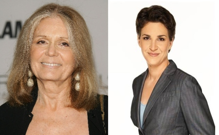 Gloria Steinem and Rachel Maddow
