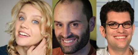 Kate McKinnon, Ted Alexandro, and Dan Mintz