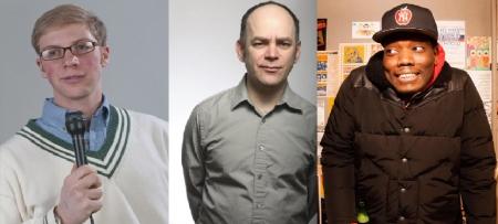 Joe Pera, Todd Bartry, and Michael Che