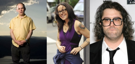 Todd Barry, Janeane Garofalo, and Judah Friedlander