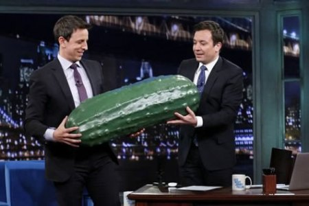 Seth Meyers and Jimmy Fallon