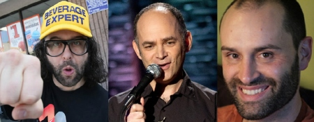 Judah Friedlander, Todd Barry, and Ted Alexandro