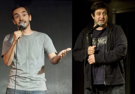 Myq Kaplan and Eugene Mirman