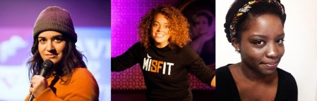 Sabrina Jalees, Michelle Wolf, and Charla Lauriston