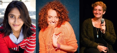 Aparna Nancherla, Michelle Wolf, and Jo Firestone