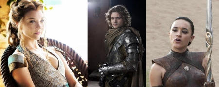 Game of Thrones - Natalie Dormer, Finn Jones, and Keisha Castle-Hughes
