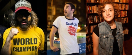 Judah Friedlander, Mark Normand, and Jo Firestone