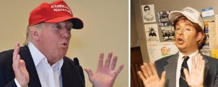 Donald Trump and Anthony Atamanuik