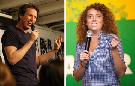 Pete Holmes and Michelle Wolf
