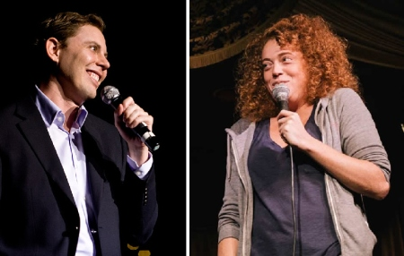 Ryan Hamilton and Michelle Wolf