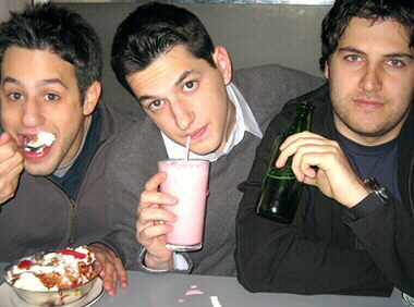 Gil Ozeri, Adam Pally, and Ben Schwartz