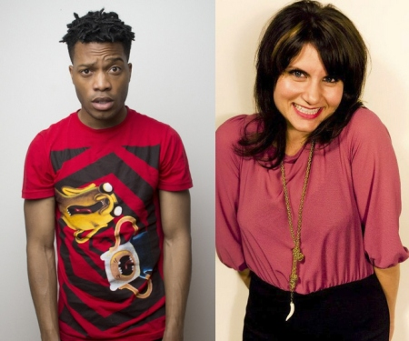 Jermaine Fowler and Brooke Van Poppelen