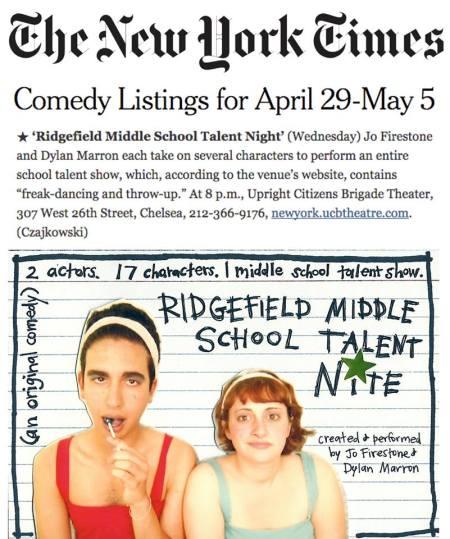 Ridgefield Middle School Talent Night