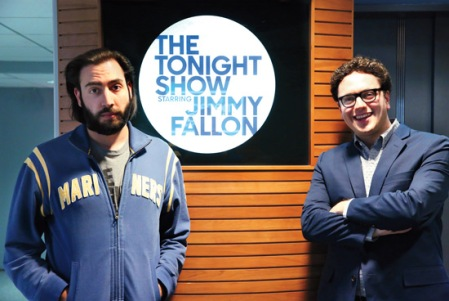 The Tonight Show with Jimmy Fallon writers: Mike DiCenzo and Arthur Meyer