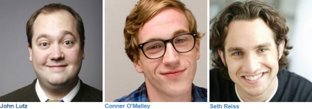 Late Night with Seth Meyers writers: John Lutz, Conner O'Malley, and Seth Reiss