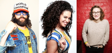 Judah Friedlander, Michelle Buteau, and Jo Firestone