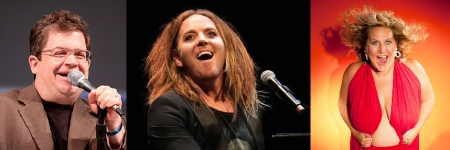 Patton Oswalt, Tim Minchin, and Bridget Everett
