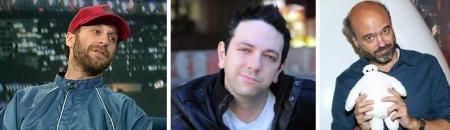 Jon Glaser, Brian Berrebbi, and Scott Adsit