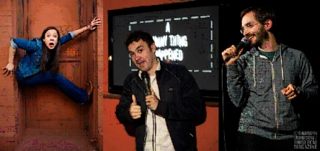 Leslie Goshko, Mark Normand, and Myq Kaplan