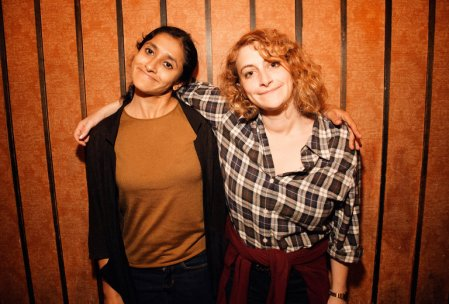 "Aparna Nancherla and Jo Firestone: ""Butterboy with Jo, Aparna, and Maeve"""