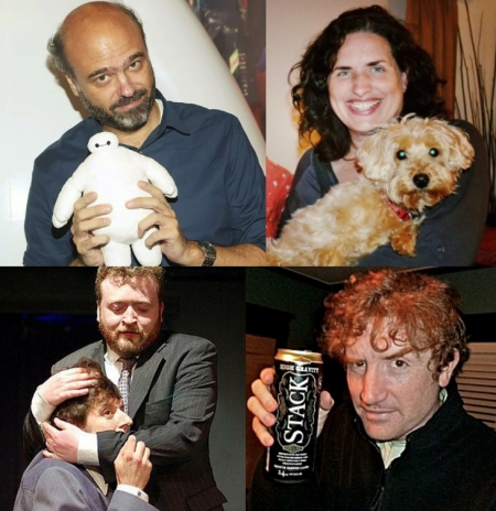 Scott Adsit, Tami Sagher, Neil Casey, and Brian Stack