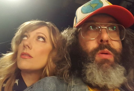 Judy Greer and Judah Friedlander