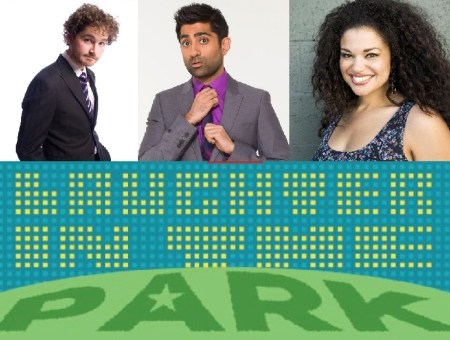 Charlie Pickering, Saurin Choksi, and Michelle Buteau