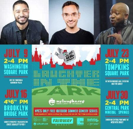 "Langston Kerman, Myq Kaplan, and Sherrod Small: ""Laughter in the Park"""